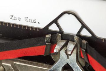 Vintage typewriter closeup