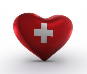 Switzerland, Swiss Flag (3D Flag)