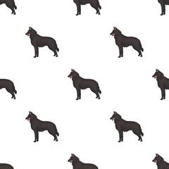 The dark Belgian wolf. Belgium single icon in cartoon style vector symbol stock illustration.