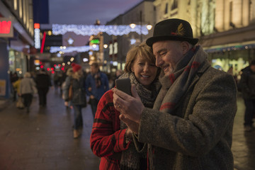 Taking A Christmas City Selfie