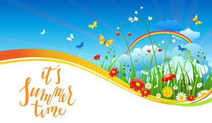 Rainbow season banner