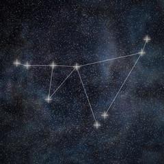 Capricorn Constellation. Zodiac Sign Capricorn constellation lines Galaxy background