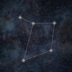Libra Constellation. Zodiac Sign Libra constellation lines Galaxy background