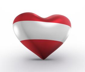 Austria, Austrian Flag (3D Render)