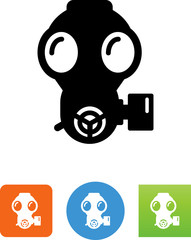 Gas Mask Icon - Illustration