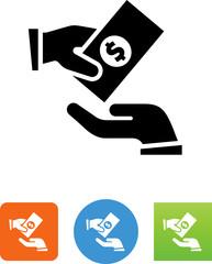 Give Money Icon - Illustration
