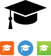 Graduating Icon - Illustration
