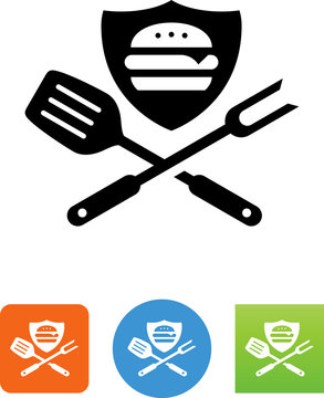 Grilling Logo Icon - Illustration