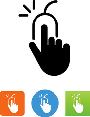 Hand Clicking A Mouse Icon - Illustration