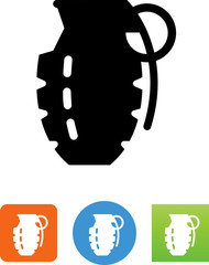 Hand Grenade Icon - Illustration