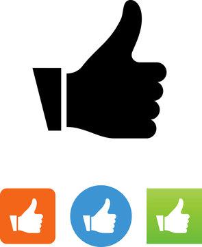 Hand Gesturing Thumbs Up Icon - Illustration