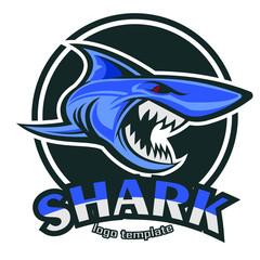 vector shark logo