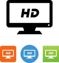 HD Monitor Icon - Illustration