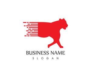 Faster Panther Logo Design