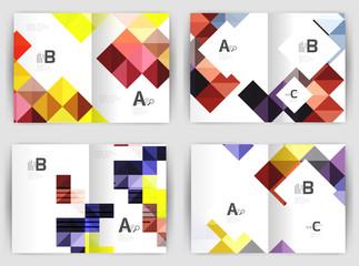 Minimal square mosaic cover design templates