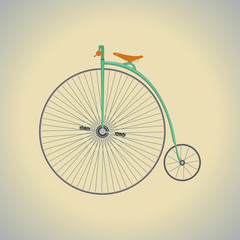 Photo sur Aluminium Vintage Retro Bicycle. Go out with bicycle retro style