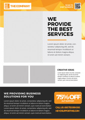 Flyer template, Brochures, Pamphlet, abstract background for professional, company, agency, coorporate in A4 Size Style 8