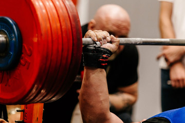 man powerlifter competition powerlifting bench press