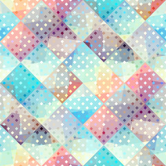 Seamless background pattern. Abstract vector geometric pattern.