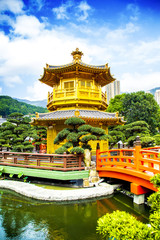 Chinese traditional pavilion in Hong Kong