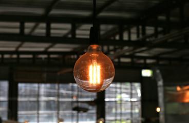 Hanging Light bulb.