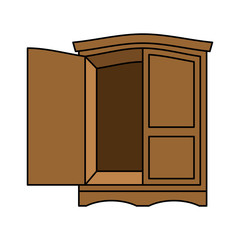 Wardrobe wood retro. Furniture for clothes. Vintage Cabinet. Old chest of drawers