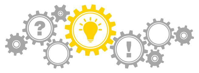 Gears Border Question, Idea & Answer Grey/Yellow