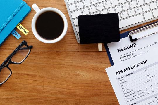 Job hiring and applying background