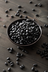 black turtle beans legumes in bowl