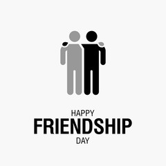 Happy Friendship Day text for friends greeting card simple design