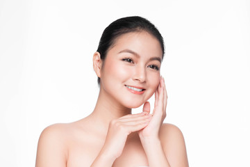 Youth and Skin Care Concept. Beauty Spa Asian Woman with perfect skin Portrait.