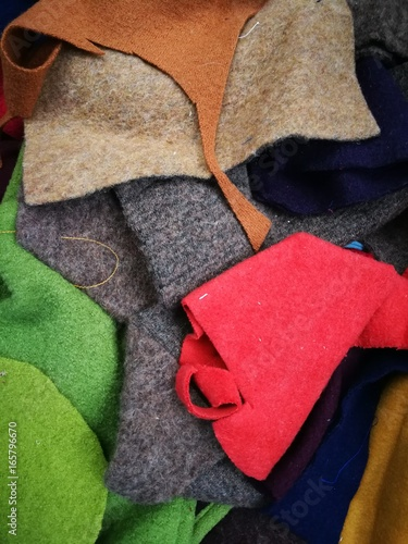 Bunte Stoffe Filz Stock Photo And Royalty Free Images On Fotolia