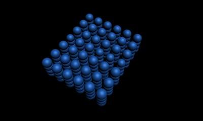 Объемные геометрические фигуры в качестве фона
