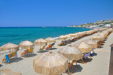 The picturesque beach on the island of Ischia