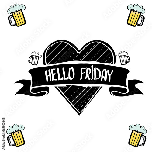 Happy Friday Vector Background Stock Image And Royalty Free Vector