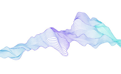 Vector wave stripe line abstract background