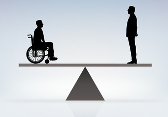 handicapé - égalité - aide - handicap - fauteuil roulant - solidarité - travail - transport