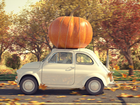 thanksgiving is coming soon. 3d rendering