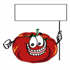 Cute tomato and banner