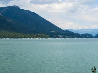 Segelschiffe auf dem Wolfgangsee, Salzkammergut, Oberösterreich, Österreich