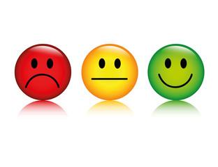 smiley bewertung negativ neutral positiv