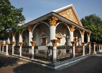 Wat Khachon Rangsan in Phuket town. Phuket province. Thailand