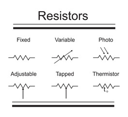 electric circuit elements. resistors
