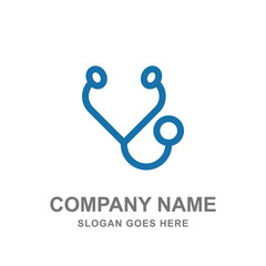 Stetoschope Medical Healthcare Doctor Logo Vector Icon Business Template