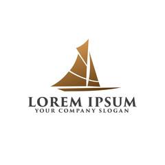 Creative Ship Concept Logo Design Template design concept template