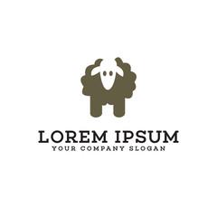 sheep logo design concept template