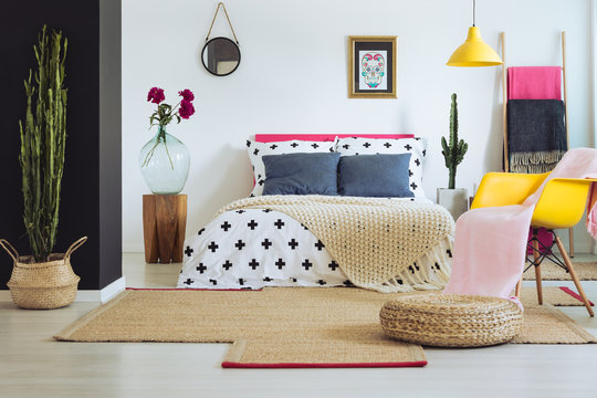 Inspiring bedroom with mexican decor