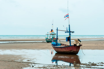 Empty fishing boats