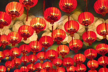 Poster de jardin Chine Chinese new year lanterns in chinatown.