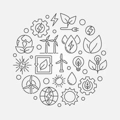 Eco Energy round illustration